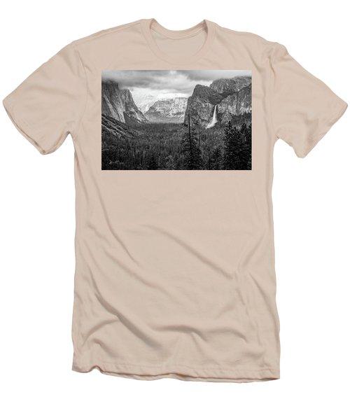 Yosemite View 38 Men's T-Shirt (Slim Fit) by Ryan Weddle