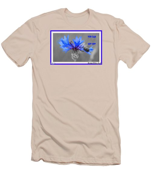 Men's T-Shirt (Slim Fit) featuring the digital art You Can Get Out by Holley Jacobs