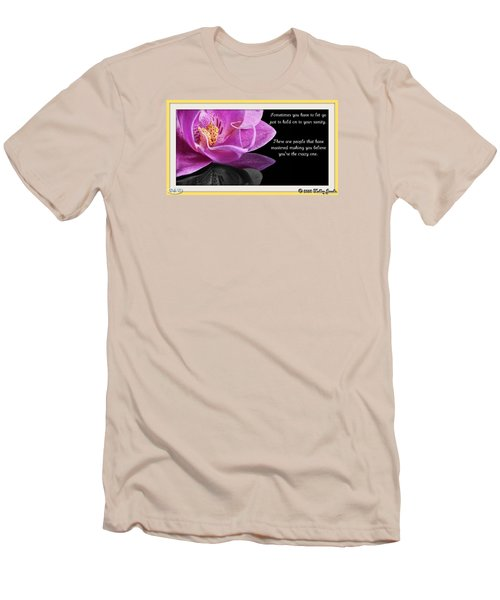 Men's T-Shirt (Slim Fit) featuring the digital art You Have To Let Go by Holley Jacobs