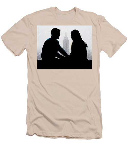 Men's T-Shirt (Slim Fit) featuring the photograph Young Love     by Chris Lord