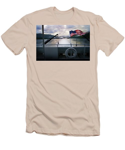 Men's T-Shirt (Slim Fit) featuring the photograph Yukon Queen by Ann Lauwers