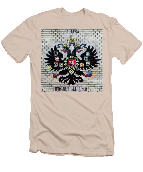 Men's T-Shirt (Slim Fit) featuring the pyrography Yury Bashkin Symbol by Yury Bashkin