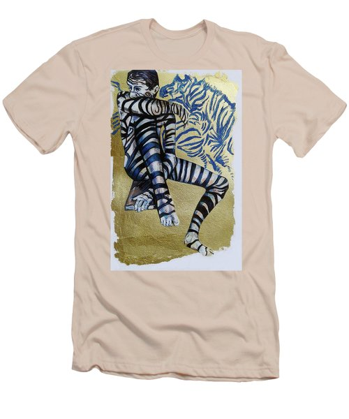 Zebra Boy The Lost Gold Drawing  Men's T-Shirt (Athletic Fit)