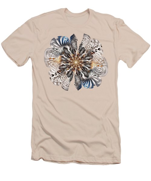 Zebra Flower Men's T-Shirt (Athletic Fit)