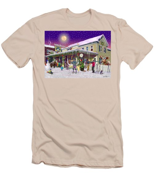 Zebs General Store In North Conway New Hampshire Men's T-Shirt (Slim Fit) by Nancy Griswold