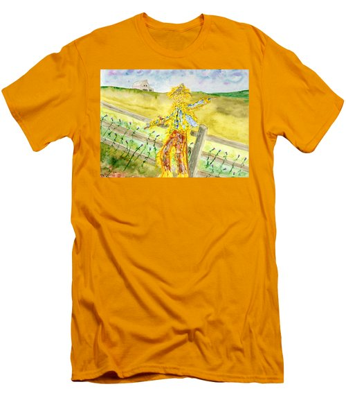 Napping Scarecrow Men's T-Shirt (Athletic Fit)