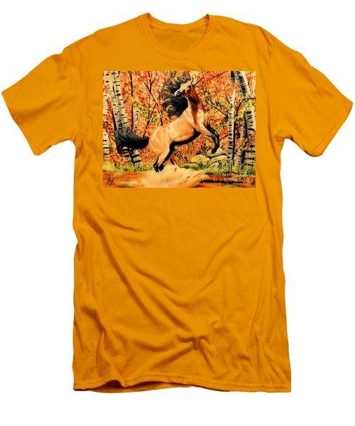 Autumn Frolick Men's T-Shirt (Slim Fit) by Cheryl Poland
