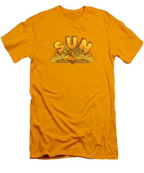 Sun - Rockin Rooster Logo Men's T-Shirt (Athletic Fit)