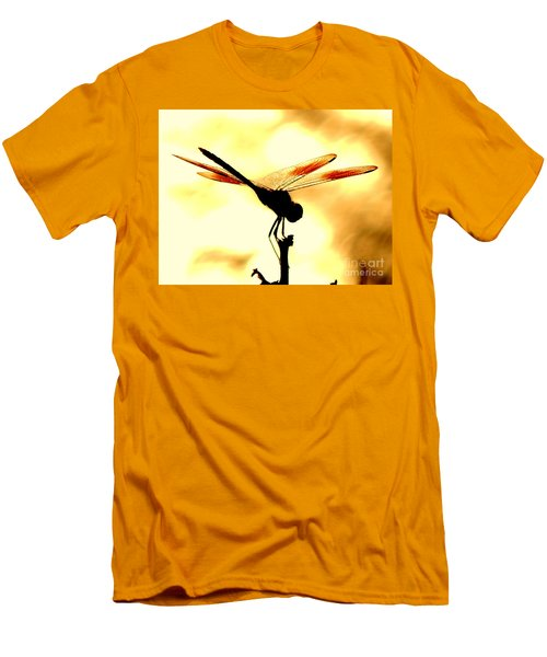 The Light Of Flight Upon The Mosquito Hawk At The Mississippi River In New Orleans Louisiana Men's T-Shirt (Slim Fit) by Michael Hoard