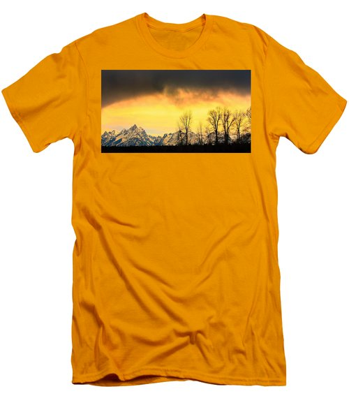 Men's T-Shirt (Slim Fit) featuring the photograph Grand Tetons Wyoming by Amanda Stadther