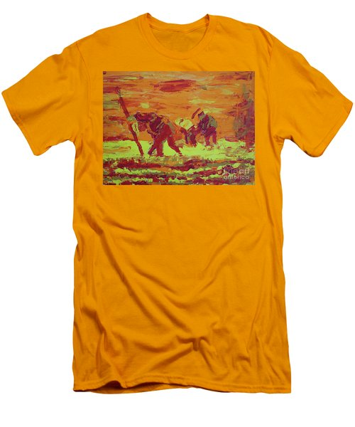 Hot Potatoes Men's T-Shirt (Slim Fit) by Linda Simon