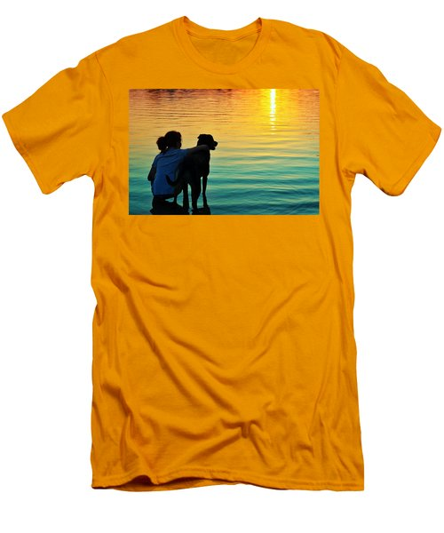 Island Men's T-Shirt (Slim Fit) by Laura Fasulo