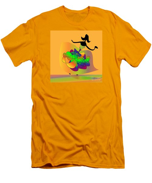 Men's T-Shirt (Slim Fit) featuring the digital art At The Prom by Iris Gelbart