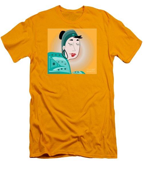 Men's T-Shirt (Slim Fit) featuring the digital art Dream by Iris Gelbart