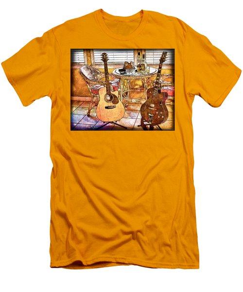 A Little Bit Country-a Little Bit Blues Men's T-Shirt (Athletic Fit)