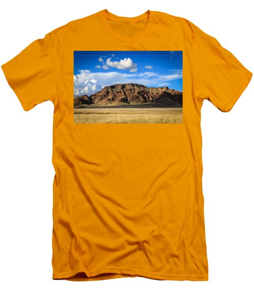Aferican Grass And Mountain In Sossusvlei Men's T-Shirt (Athletic Fit)