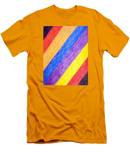 Men's T-Shirt (Slim Fit) featuring the painting Angles by Stormm Bradshaw