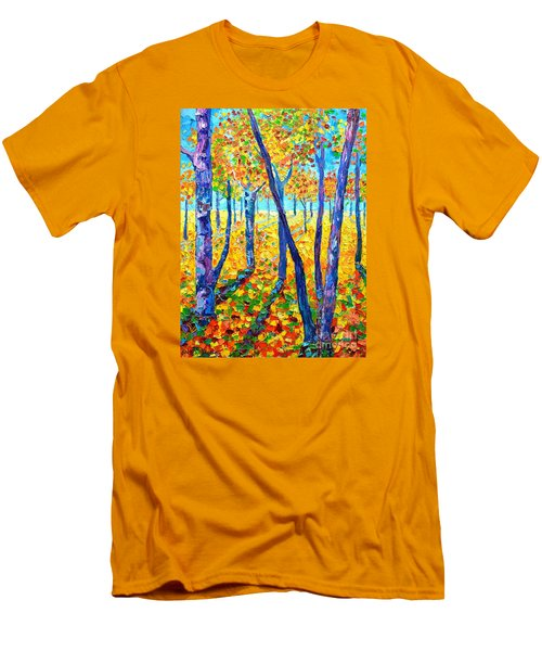 Autumn Colors Men's T-Shirt (Slim Fit) by Ana Maria Edulescu