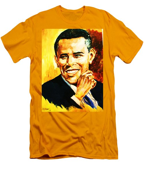 Barack Obama Men's T-Shirt (Slim Fit) by Al Brown