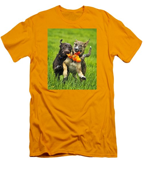 Men's T-Shirt (Slim Fit) featuring the photograph Best Friends 2011 by Joan Davis