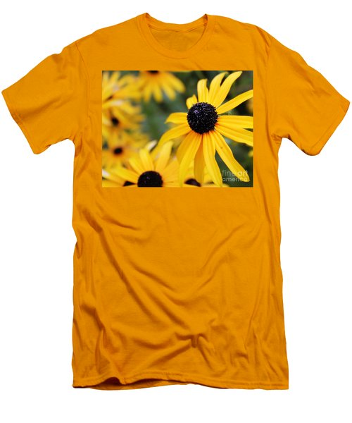 Black Eyed Susan Men's T-Shirt (Slim Fit) by Melissa Petrey