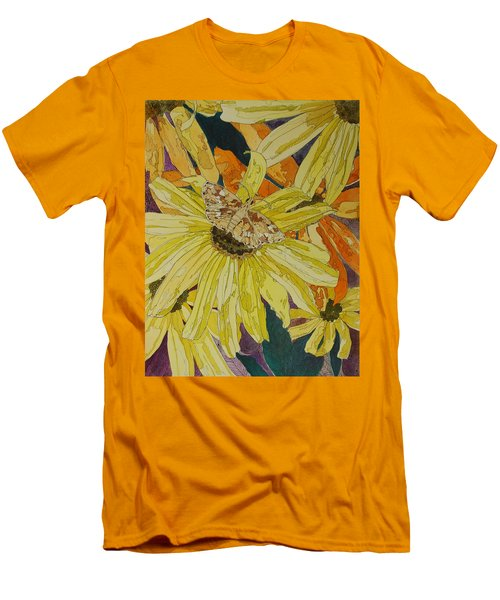 Blackeyed Susans And Butterfly Men's T-Shirt (Athletic Fit)