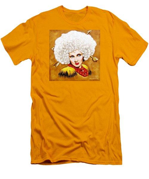 Men's T-Shirt (Slim Fit) featuring the painting Blonde Venus by Joseph Sonday