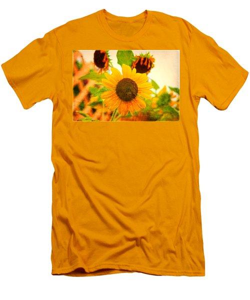 Blossoming Sunflower Beauty Men's T-Shirt (Slim Fit) by Toni Hopper