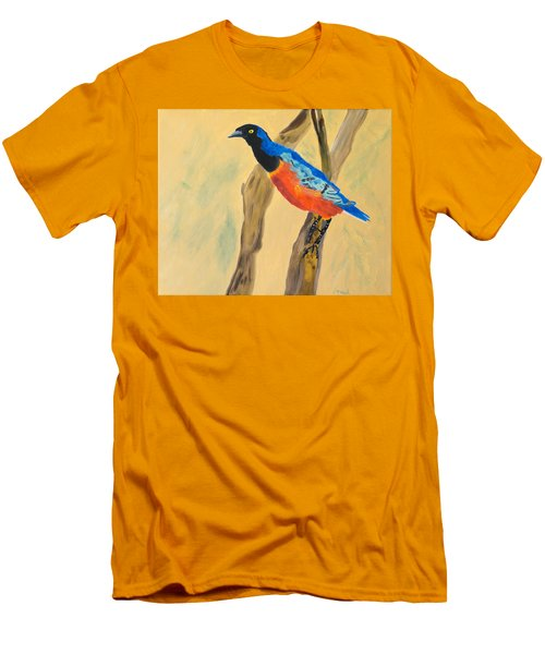 Men's T-Shirt (Slim Fit) featuring the painting Hawaiian Blues by Meryl Goudey