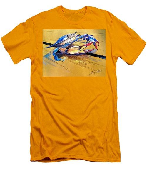 Blue Crabbie  Men's T-Shirt (Athletic Fit)