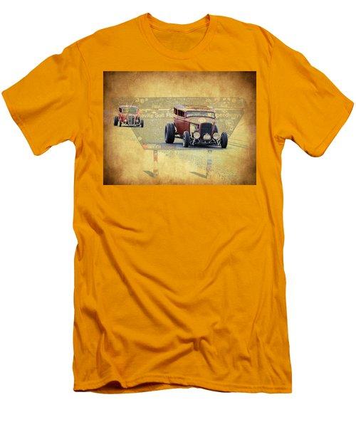 Bonneville Rodz Men's T-Shirt (Slim Fit) by Steve McKinzie