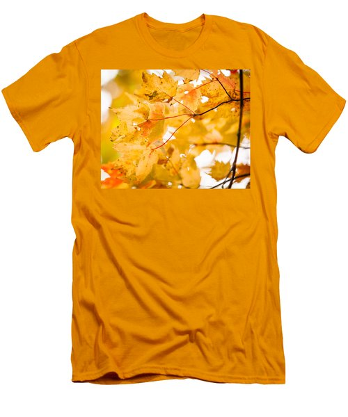 Branching Yellow Men's T-Shirt (Athletic Fit)