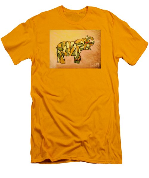 Men's T-Shirt (Slim Fit) featuring the painting Breaking The Chain Limited Edition Prints 1 Of 20 by Donna Dixon