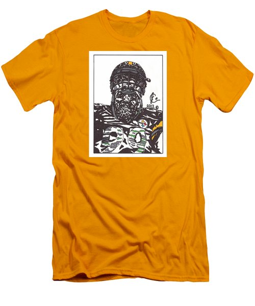 Brett Keisel 2 Men's T-Shirt (Slim Fit) by Jeremiah Colley