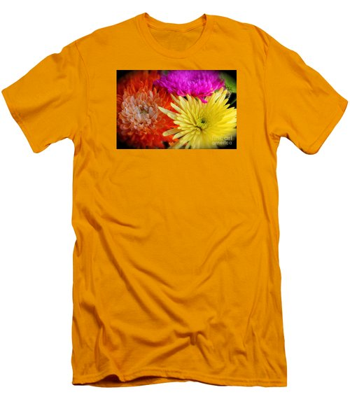 Bright Chrysanthemums Men's T-Shirt (Slim Fit) by The Art of Alice Terrill