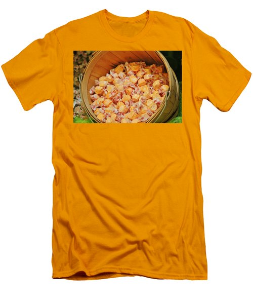 Men's T-Shirt (Slim Fit) featuring the photograph Bucket Of Taffy by Cynthia Guinn