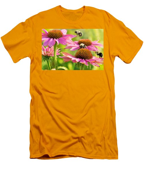 Bumbling Bees Men's T-Shirt (Slim Fit) by Bill Pevlor