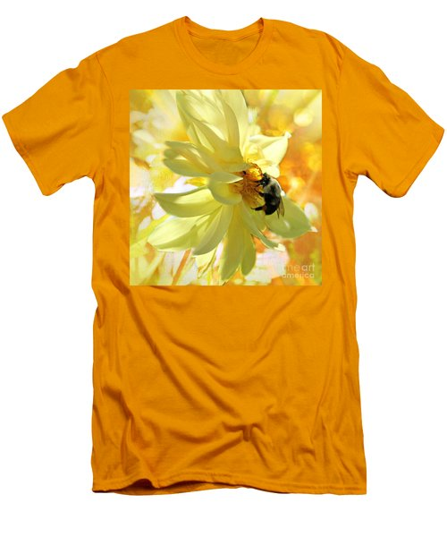 Busy Bumble Bee Men's T-Shirt (Slim Fit) by Judy Palkimas