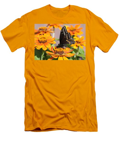 Men's T-Shirt (Slim Fit) featuring the photograph Butterfly In Living Color by Greg Graham