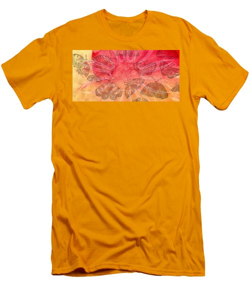 Men's T-Shirt (Slim Fit) featuring the digital art Butterfly Letterpress Watercolor by Kyle Hanson