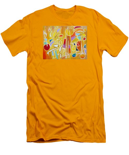 Men's T-Shirt (Slim Fit) featuring the painting Candy Shop Garnish by Jason Williamson