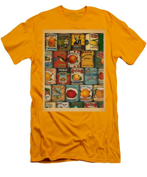 Men's T-Shirt (Slim Fit) featuring the drawing Canned by Meg Shearer