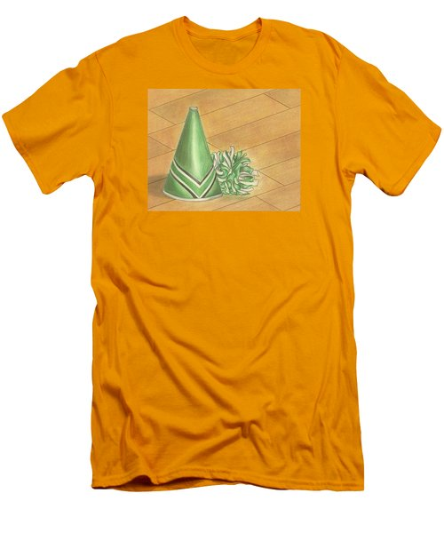Men's T-Shirt (Slim Fit) featuring the drawing Cheer by Troy Levesque