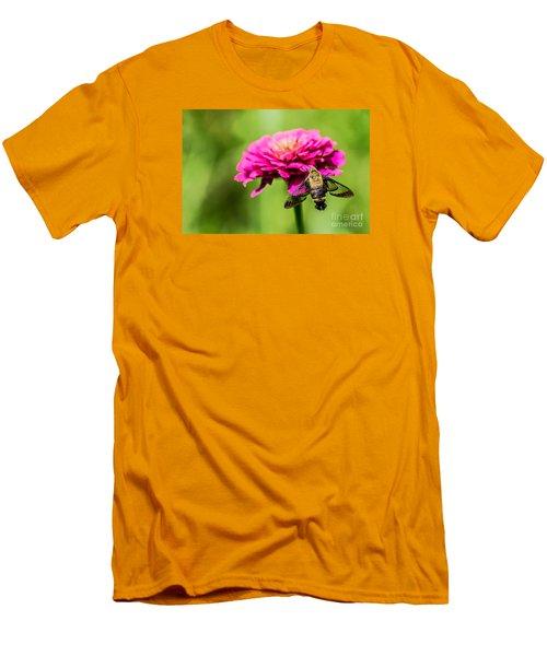 Clearwing Moth Men's T-Shirt (Slim Fit) by Debbie Green
