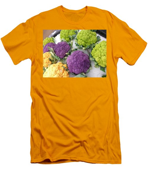 Men's T-Shirt (Slim Fit) featuring the photograph Colorful Cauliflower by Caryl J Bohn