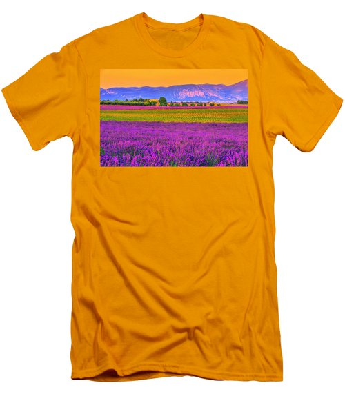Colors Of Provence Men's T-Shirt (Slim Fit) by Midori Chan