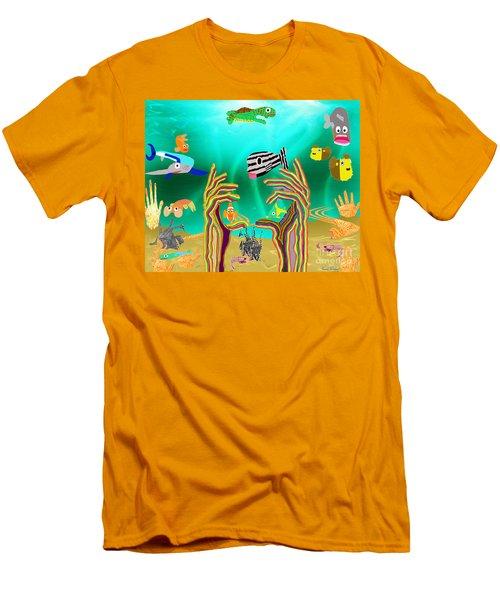 Coral Hands Men's T-Shirt (Athletic Fit)