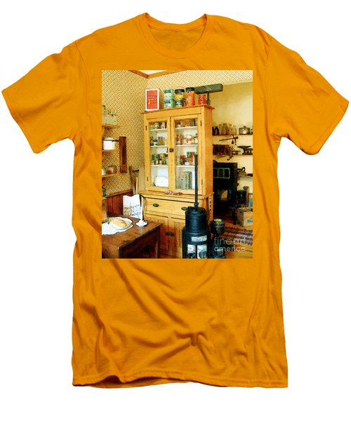 Men's T-Shirt (Slim Fit) featuring the painting Country Kitchen Sunshine IIi by RC deWinter