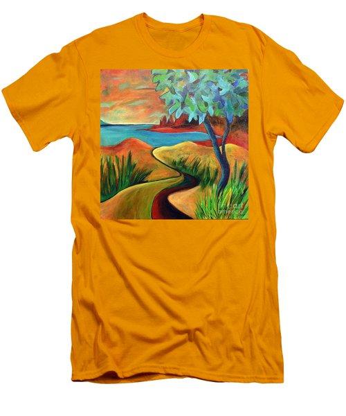 Crimson Shore Men's T-Shirt (Slim Fit) by Elizabeth Fontaine-Barr