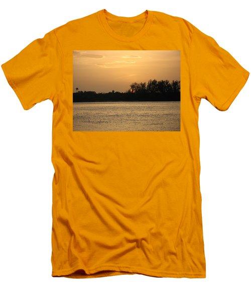 Crocodile Eye Men's T-Shirt (Slim Fit) by Kathy Barney